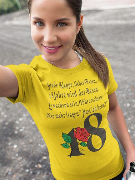 18. Geburtstag T-Shirt Tochter